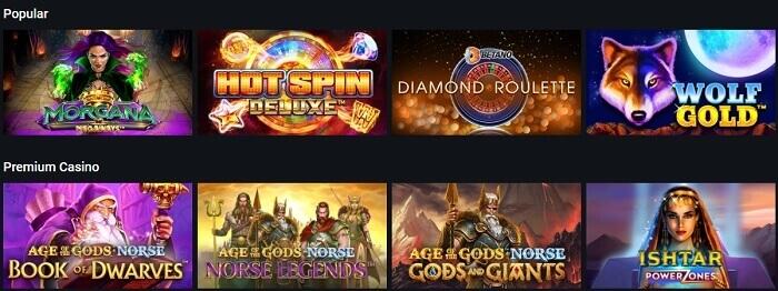 Jogos de Casino Betano